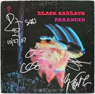 BLACK SABBATH (4) OSBOURNE WARD BUTLER & IOMMI SIGNED ALBUM W/ VINYL