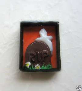 Dollhouse Miniatures Halloween Boxed Tombstone Candy