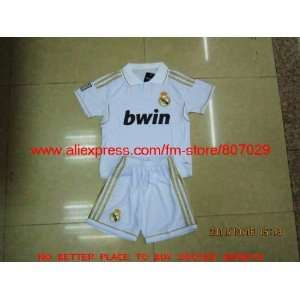 2012 real madrid home kids soccer jerseys embroidered logo
