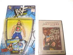 WWF Mick Foley Wrestling Figure & DVD WWE TNA Dude Love