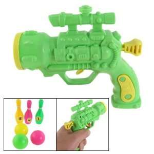 Como Colorful Table Tennis Bowlings Green Plastic Gun Toy
