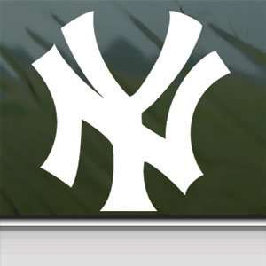 NEW YORK YANKEES White Sticker NY Car Vinyl Window Laptop White Decal