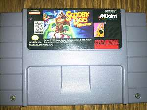 DOO MYSTERY Super Nintendo SNES Game cartridge    shaggy hanna barbera