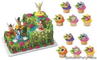 Disney Tinkerbell Fairies Cake Topper Set w/ rings NEW