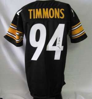 Lawrence Timmons Steelers Auto/Signed Black Jersey JSA
