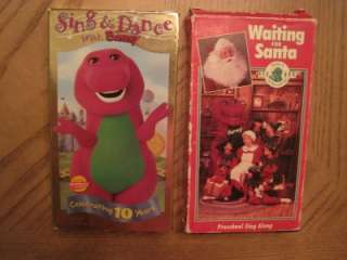 Lot 18 VHS VIDEO BARNEY & FRIENDS DINOSAUR PARTY SANTA BEACH MANNERS