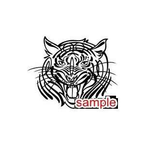 CAT TIGER ROAR WHITE VINYL DECAL STICKER: Everything Else