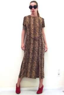 Long Sparkly Tiger Stripe Print Stretch Dress Belt 14 L
