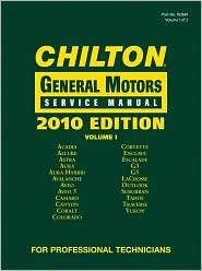 Chilton General Motors Service Manual, 2010 Edition (3 Volume Set
