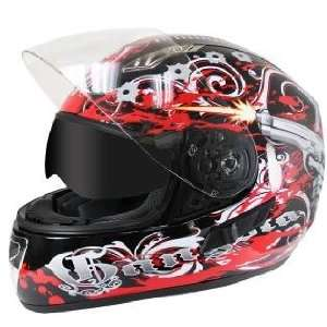 Graphics with Dual Visors Motorcycle Helme Sz L