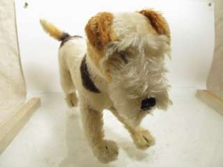 WIRE HAIRED FOX TERRIER DOG STUFFED TOY EXCELLENT CONDITION