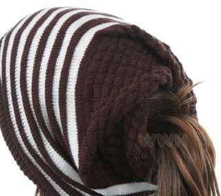 HQ Oversize Reverse Style Knit Beanie Hat Cap be619bw