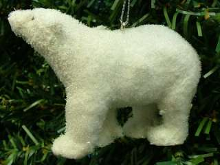Midwest Flocked Polar Bear Animal Artic Snow Christmas Tree Ornament