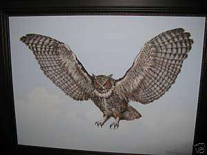 ENOCH KELLY HANEY THE OWL ORIGINAL PAINTING