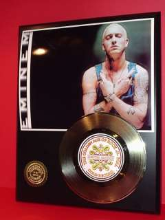 EMINEM GOLD 45 RECORD LIMITED EDITION DISPLAY