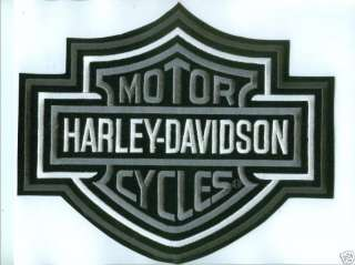 silver bar shield harley patch series part emb302546 large patch