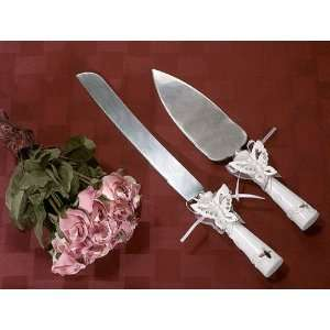 Classic Butterfly Wedding Cake Serving Set