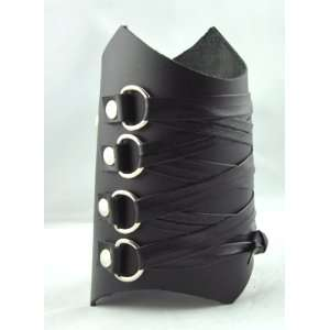 Steam Punk Gothic Corset Wristband Black Metal Armband