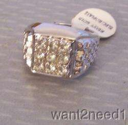 60s new/old 18K HGE White Gold Plated GENTS RING NOS