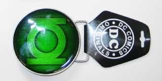 Green Lantern Epoxy Fill Logo Metal Belt Buckle, NEW