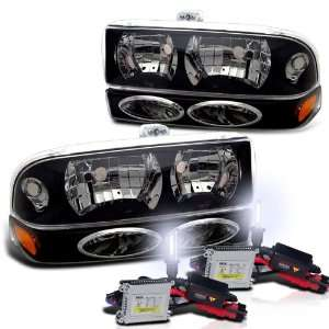 Chevy S10 Blazer Headlight + Bumper Light Lamp Set with 6000K HID Kit
