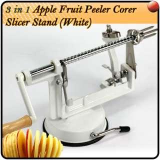 WHITE DIY Apple Peer Fruit Potato Slicer Peeler Corer
