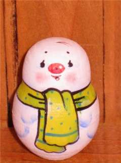 Russian tiny Nesting Doll Christmas GIFT Snowman hand painted UNIQUE