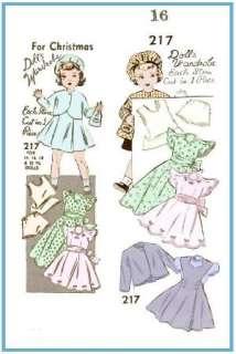 217 16 Terri Lee Doll wardrobe Pattern