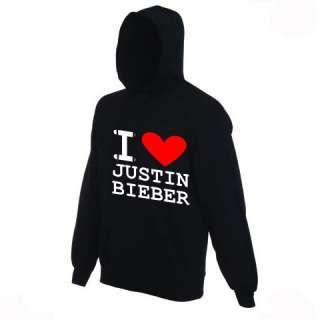 Love Justin Bieber Hoody   HOODED Sweatshirt