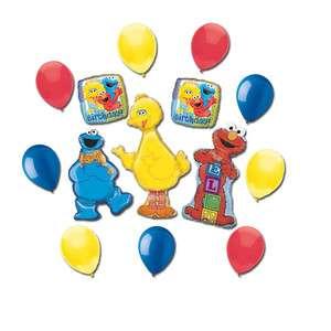 Big Bird Cookie Monster Elmo Sesame Street Birthday Party Balloons