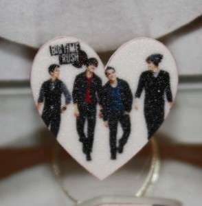 Big Time Rush Inspired Heart Ring Adjustable Carlos James Logan