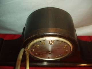 ANTIQUE GILBERT 8 DAY MANTLE CLOCK WITH BIM BAM CHIME