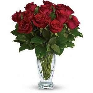 Telefloras Rose Classique   Dozen Red: Grocery & Gourmet Food