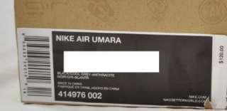 NIKE AIR UMARA 414976 002 ACG BOOT BLACK COOL GREY AINTRACITE 9 (#497