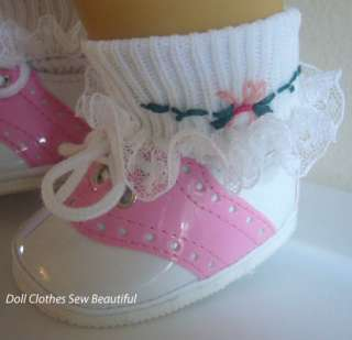 DOLL CLOTHES fits Bitty Baby Pink PATENT Saddle Shoes