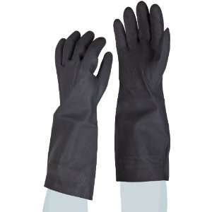 Inch Large, Black Color Neoprene Flock Lined Gloves (Case of 12 Pairs
