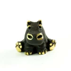 Walter Bosse Brass Sitting Hippo Figurine