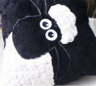 NICI White Shaun Sheep Black Pillow/Cushion 35*35CM