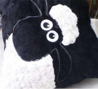 NICI White Shaun Sheep Black Pillow/Cushion 35*35CM