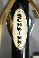 1966 Schwinn black Panther middleweight bicycle bike half tank coaster