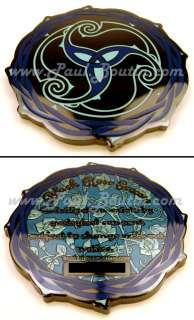 Black Rose Vine Thorn Tribal BLUE Version Icon  Geocoin