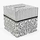 Cardboard Black and White Wedding Card Box 12 x 12 887600914537