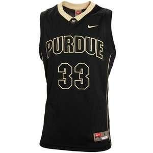 purdue boilermakers basketball #33 jersey/Shirt black gold sewn