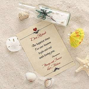 Love Letter In A Bottle Romantic Personalized Gifts Home
