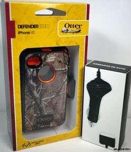 Defender Case Cover for iPhone 4 4S Blazed Orange AP Camo FREE GIFT