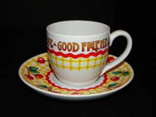 Mary Engelbreit Friends Blessing Cherries cup & saucer