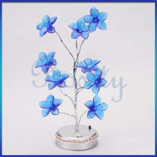 USB/Battery LED Lily Flower Tree Light Lamp Home Desk Table Party