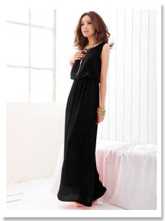 Women Elegant Retro Boho Style Sleeveless Flounced Casual Long Maxi
