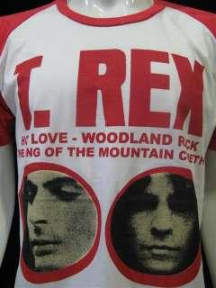 REX Mare Bolan Punk Rock Raglan T Shirt Mens Sz M