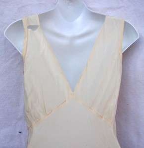 Vintage 1920s Tailor Made Ivory Silk Slip Dress Floor Length bias Cut